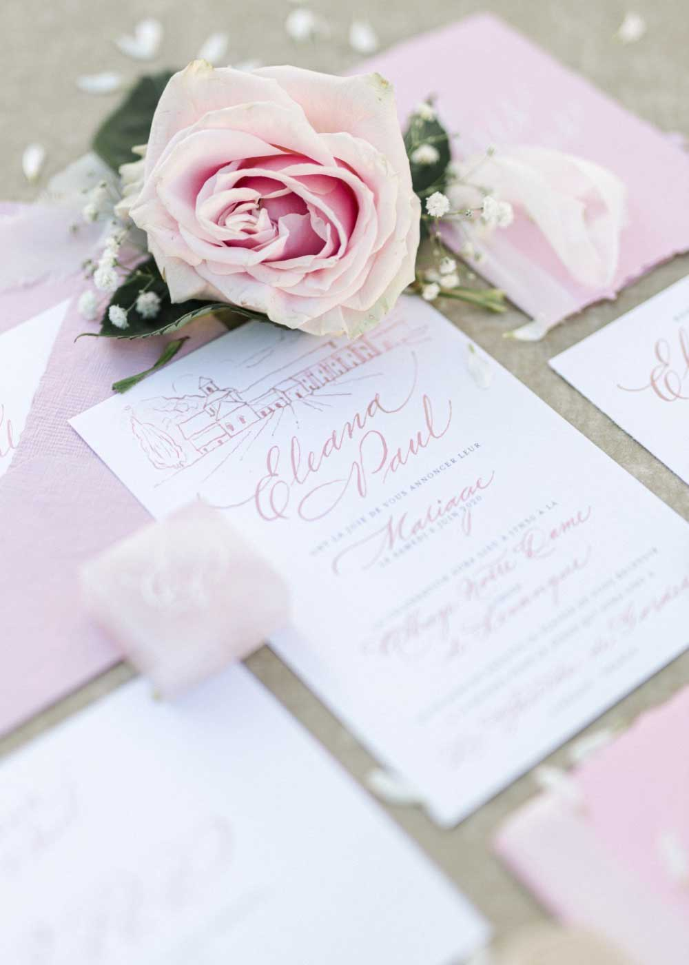 Pastel wedding invitations 2