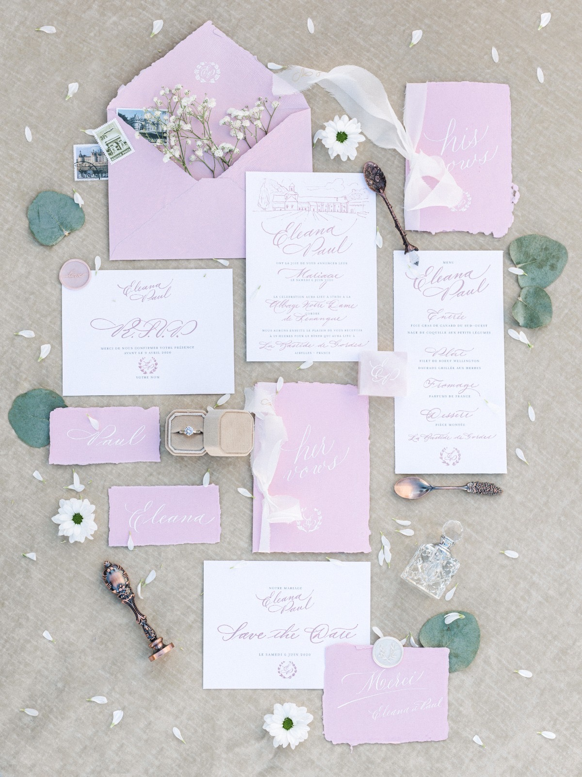 Pastel wedding invitations 4